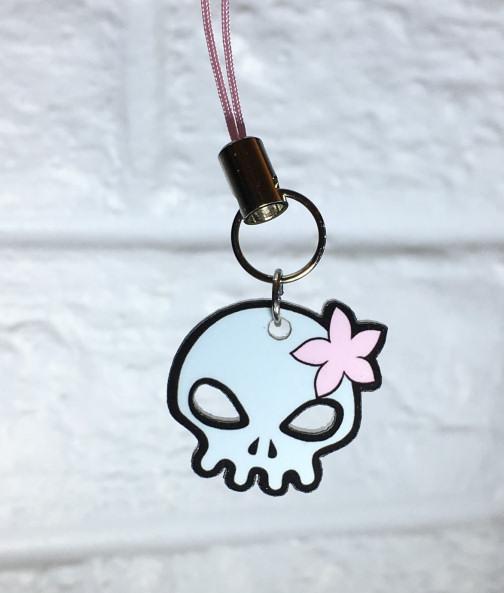 Wanda Decrypted Skull Zipper Pull