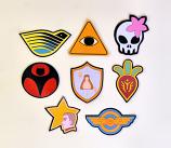 Set of 8 Battle Crest Magnets
