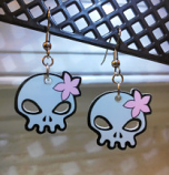 Wanda Decrypted Skull Earrings