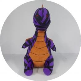 Decrypted Purple Dwagon Plushie