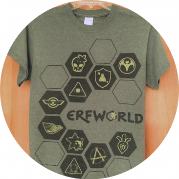 Battle Crest Hexes T-shirt